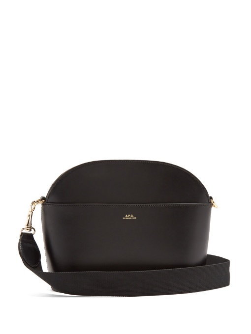 Gabrielle Leather Shoulder Bag - Black