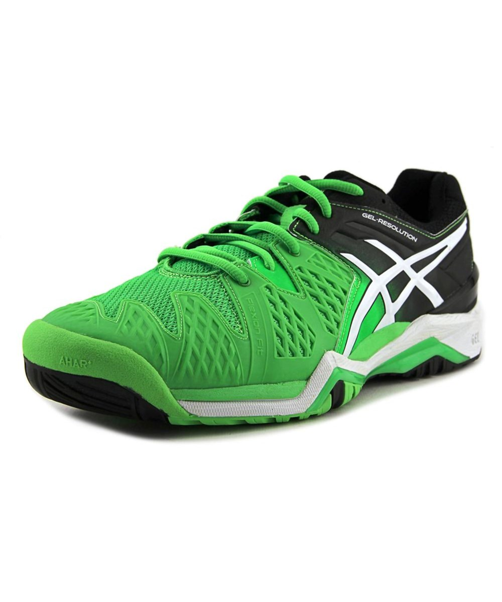 ASICS Gel Chaussure de bout tennis synthétique à bout rond ASICS Gel Resolution 6 , Vert | 0e140e8 - myptmaciasbook.club