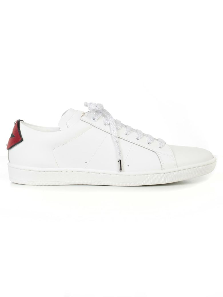 SAINT LAURENT - Signature Court Classic Sl/01 Lips Sneakers in White