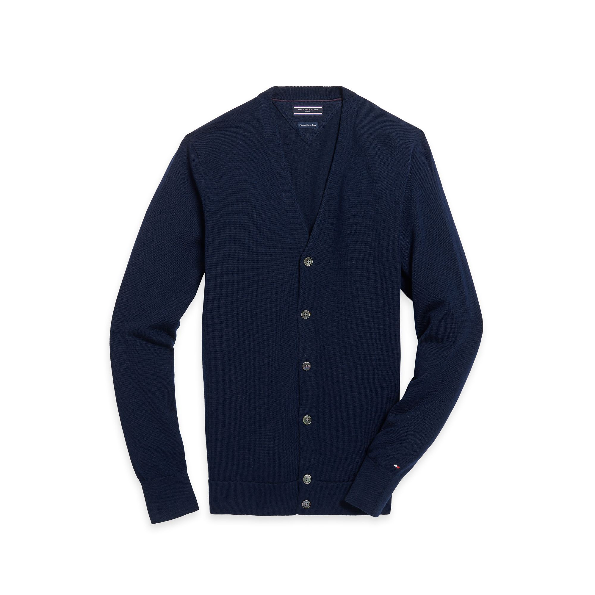 TOMMY HILFIGER Tailored Collection Wool Cardigan - Midnight