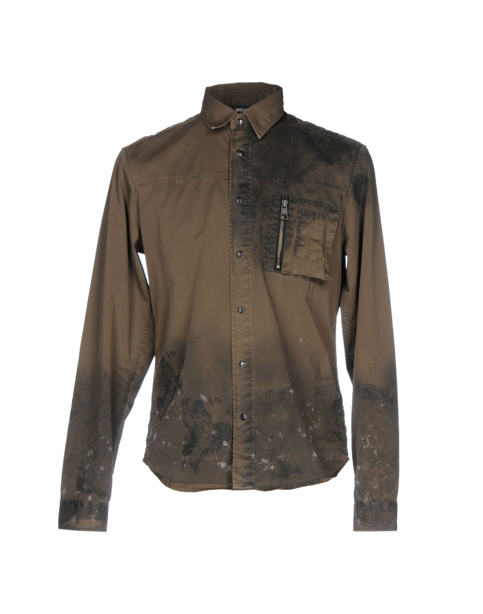 JUST CAVALLI Shirt in Military Green