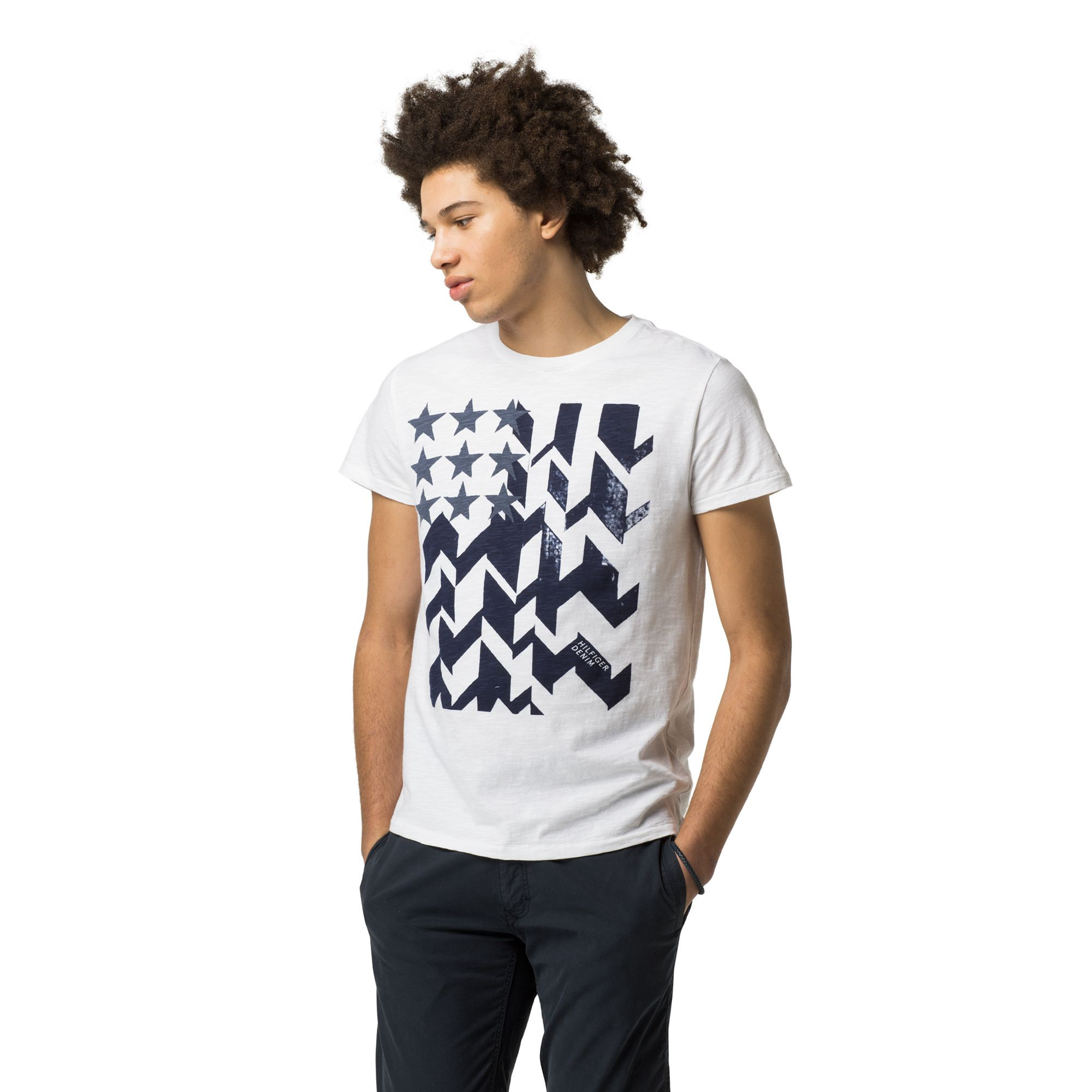 TOMMY HILFIGER Icon Flag Tee - Classic White