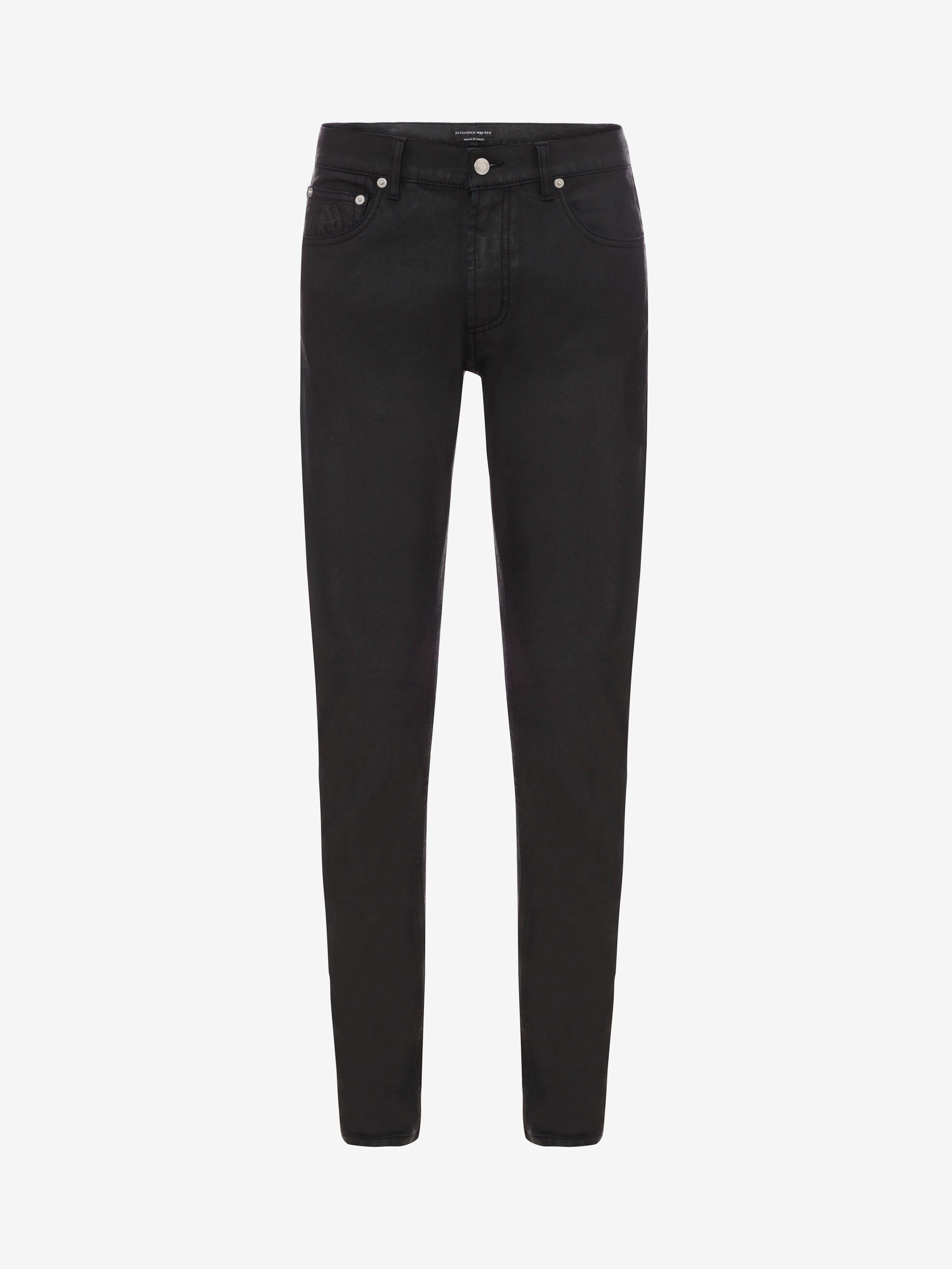 ALEXANDER MCQUEEN Stretch Denim Black Jeans