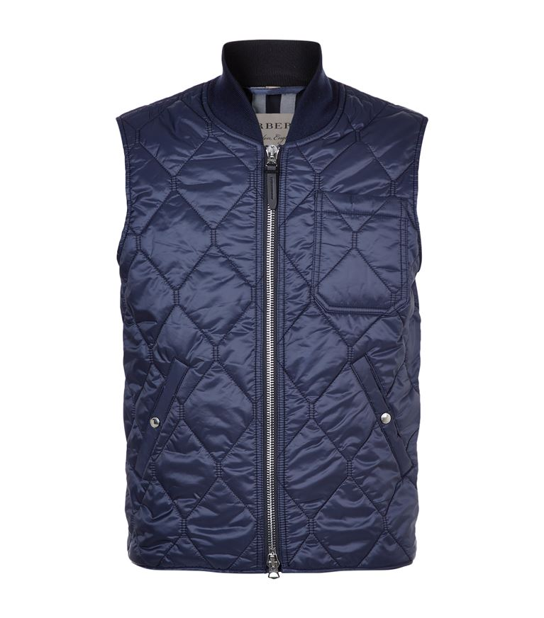 BURBERRY Quilted Gilet in Navy