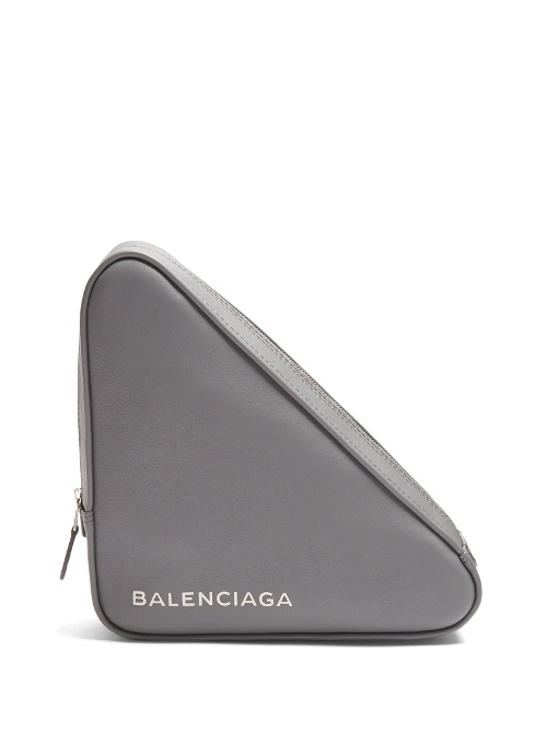 BALENCIAGA Triangle Medium Pochette in Grey