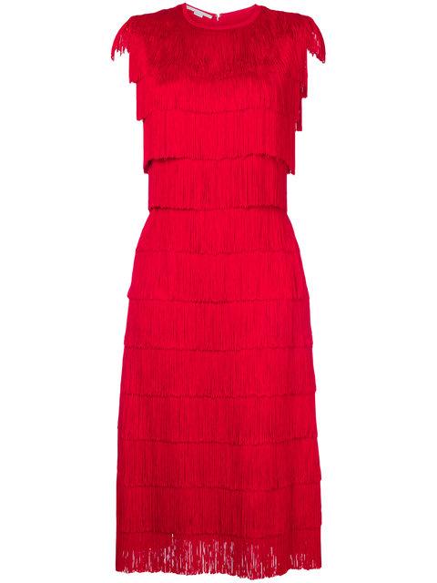 STELLA MCCARTNEY Tiered Fringe Midi-Dress
