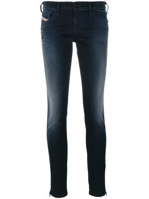 DIESEL Skinzee Low Zip Jeans
