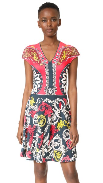 Printed Jersey Dress in Multicoloured