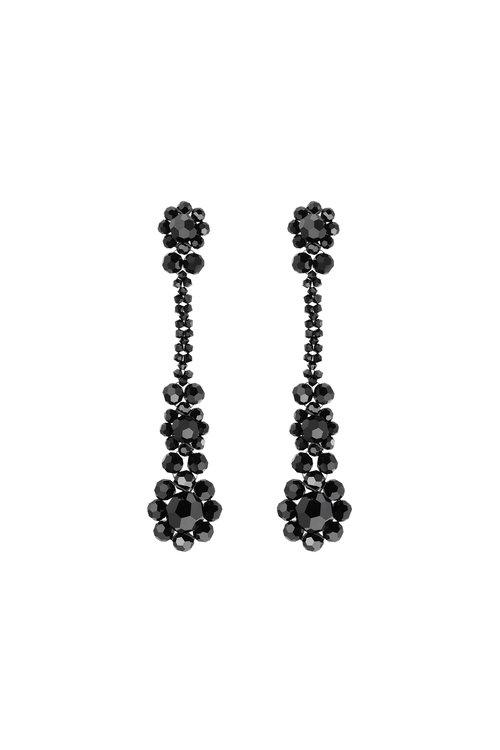 SIMONE ROCHA Victorian Drop Earrings, Size Os, Women, Black