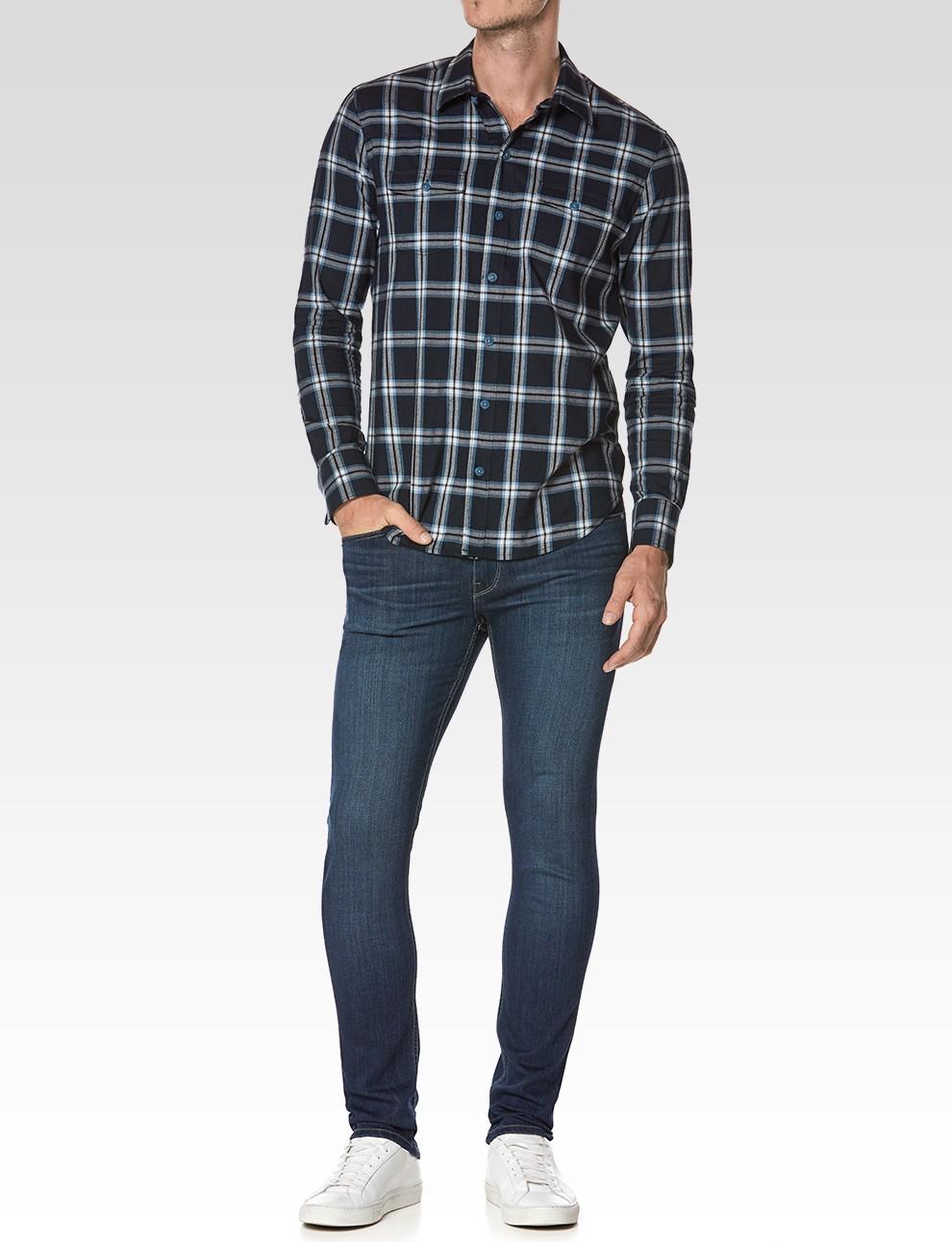 PAIGE Everett Shirt - Blue Mood Harmon Plaid