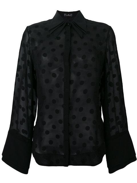 CAPUCCI Polka Dots Shirt in Black|Nero