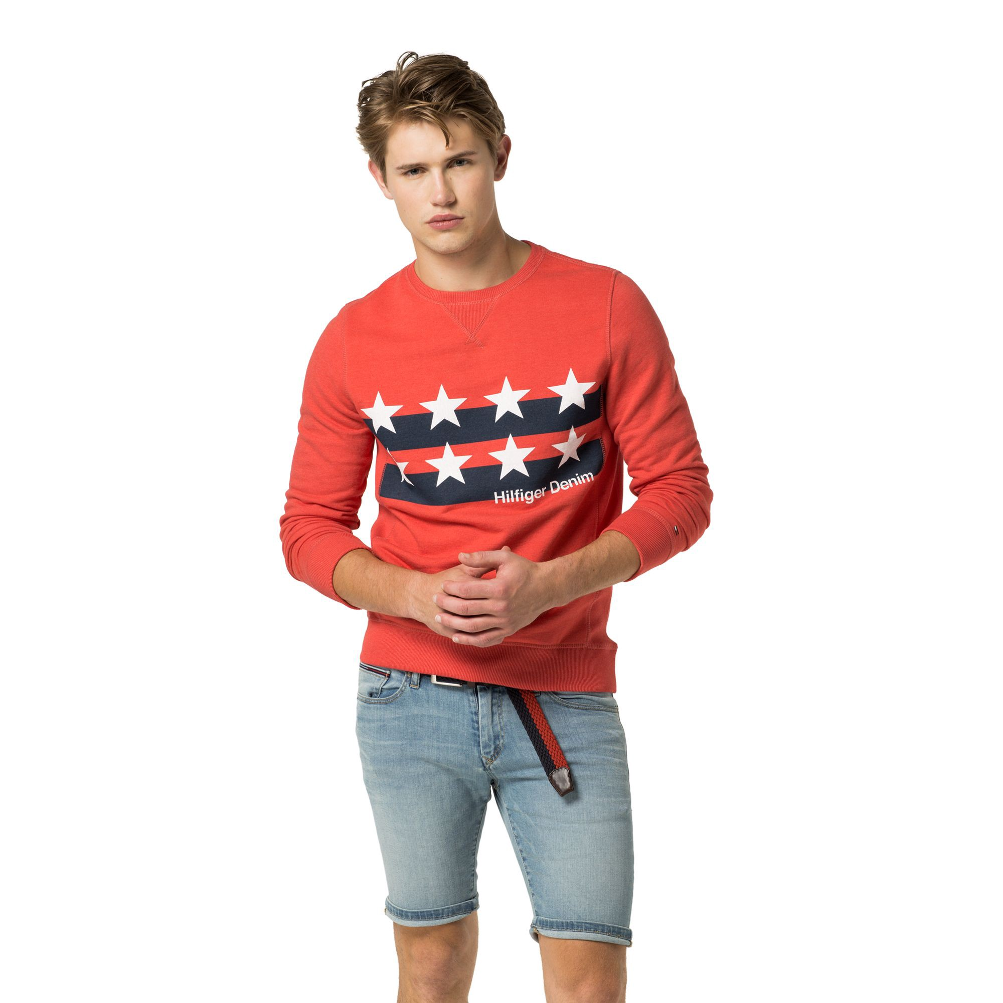 TOMMY HILFIGER Stars And Stripes Tee - High Risk Red