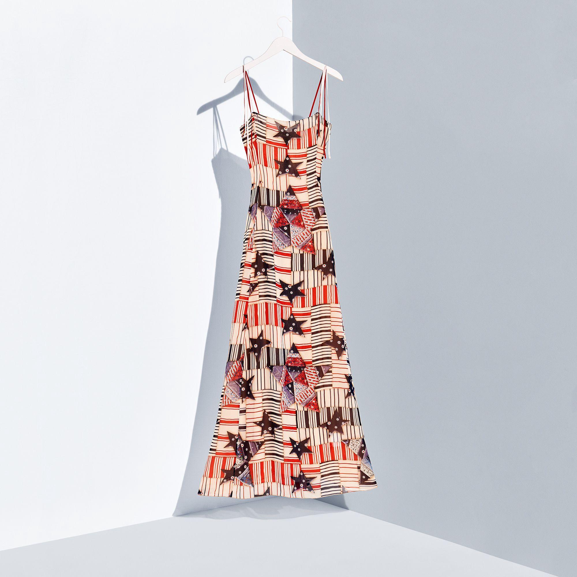 TOMMY HILFIGER Silk Maxi Dress - Eggnog/Multi