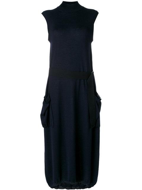 JIL SANDER Belted Waist Dress