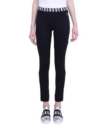 VERSUS Logo Band Leggings in Nero