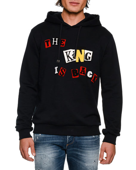 DOLCE & GABBANA The King Is Back Cotton Hoodie, Navy