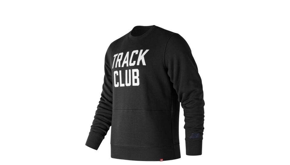 NEW BALANCE Essentials Track Club Crew in Black