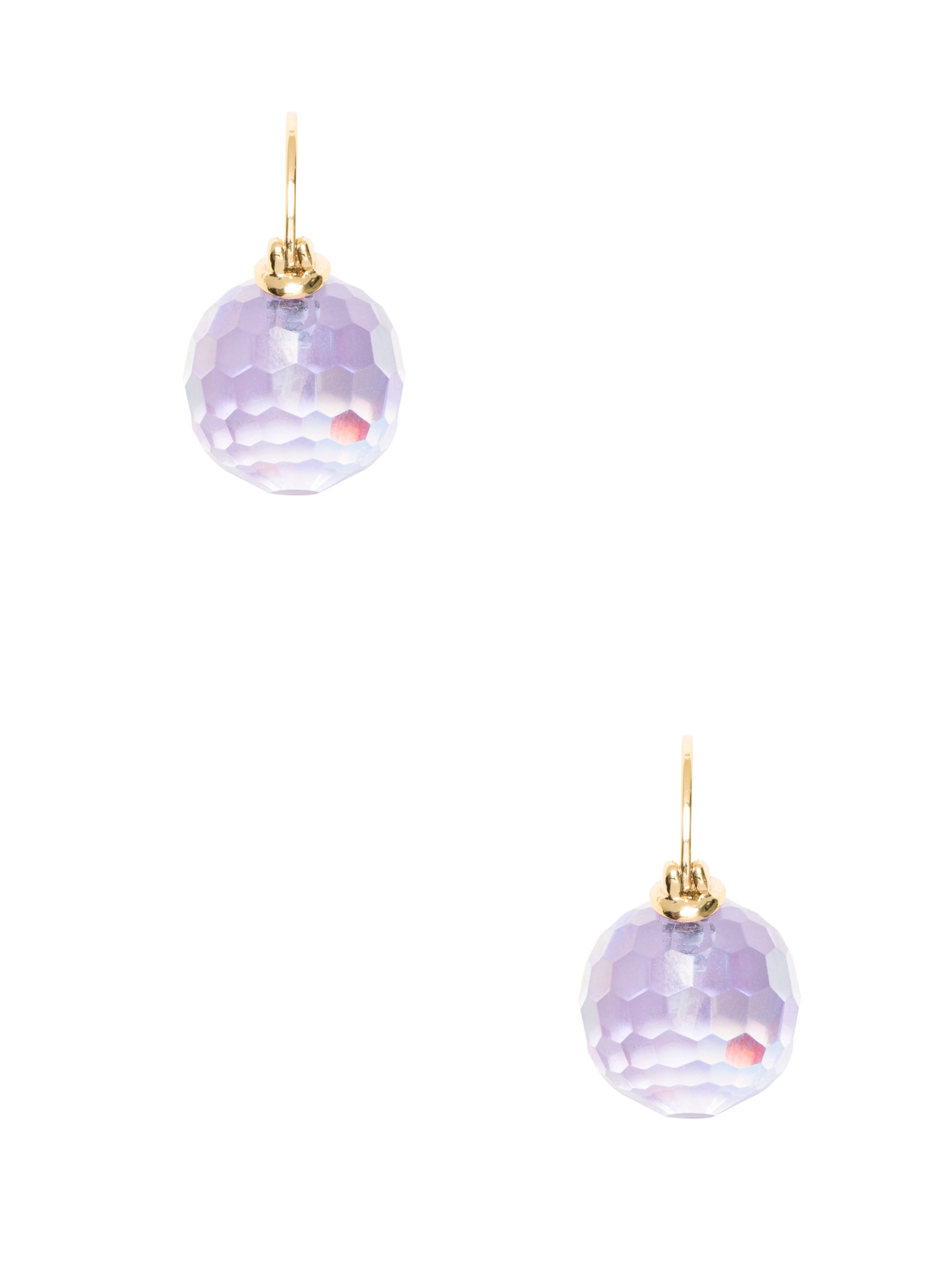 KATE SPADE Shine On Bauble Drop Earrings in Light Purple Ab
