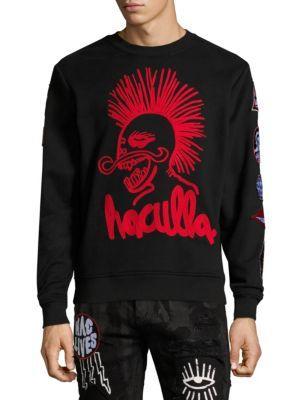 HACULLA Back Print Cotton Sweatshirt in Black