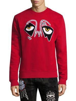 HACULLA Back Print Cotton Sweatshirt in Red