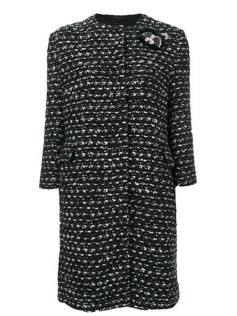 ERMANNO SCERVINO Tweed Cropped Coat in Black
