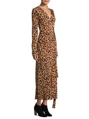 Diane von Furstenberg Silk Animal Print Dress Hot Sale Online Best Place Cheap Online Discount Free Shipping Pictures rHRqLr1