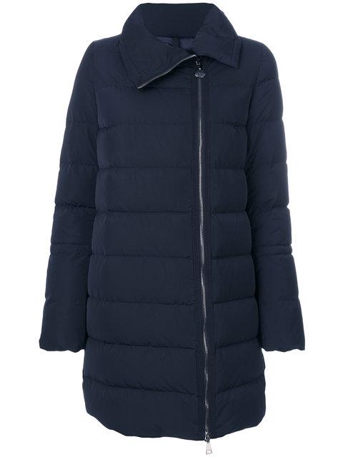 Lobelia Quilted Down Coat in Blue