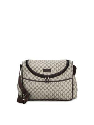 Basic Gg Supreme Canvas Diaper Bag, Beige, Beige-Multi