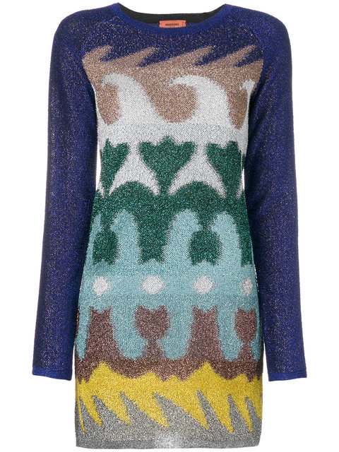 Jacquard Lame Tunic, Multicolour