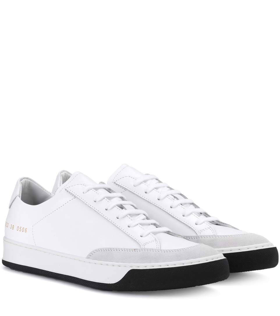 White Tennis Pro Sneakers Common Projects