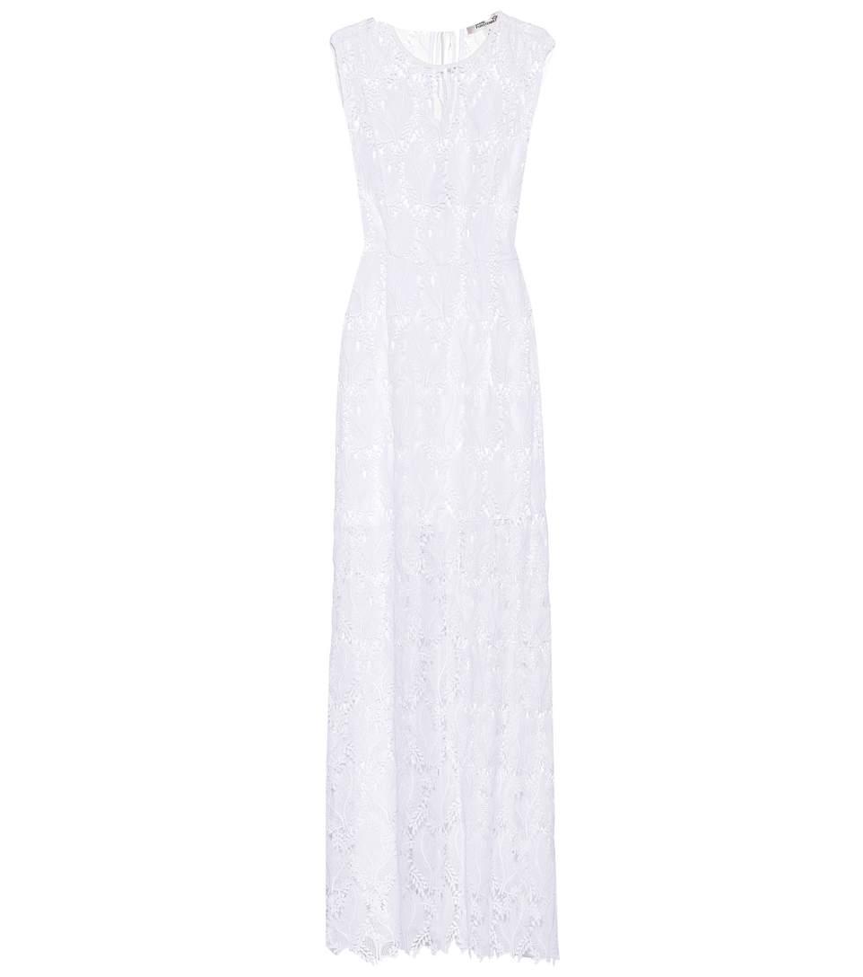Embroidered-mesh sleeveless dress Diane Von F DjI98
