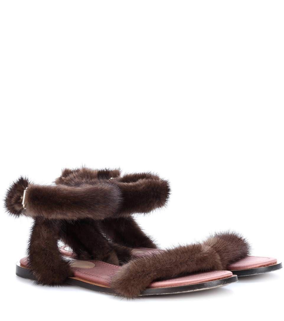 discount very cheap top quality cheap online Valentino 2017 Mink Fur Sandals cheap finishline nrq2TwM