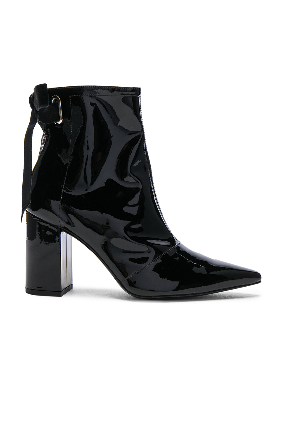X Clergerie Karli Patent Leather Ankle Boots, Black