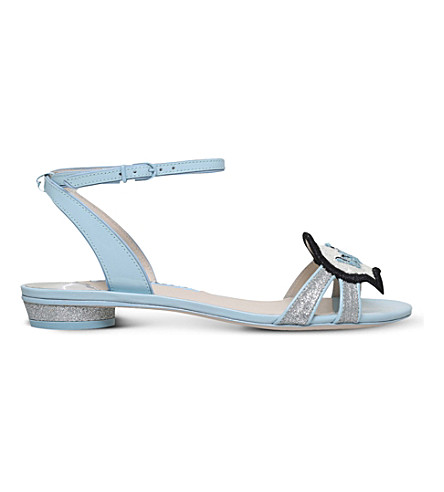 Wifey For Lifey Ellen Bridal Sandal in Pale Blue