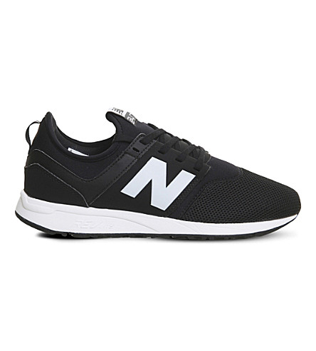 13d003e8fb0ac NEW BALANCE 247 LOW-TOP MESH TRAINERS, BLACK WHITE CLASSIC