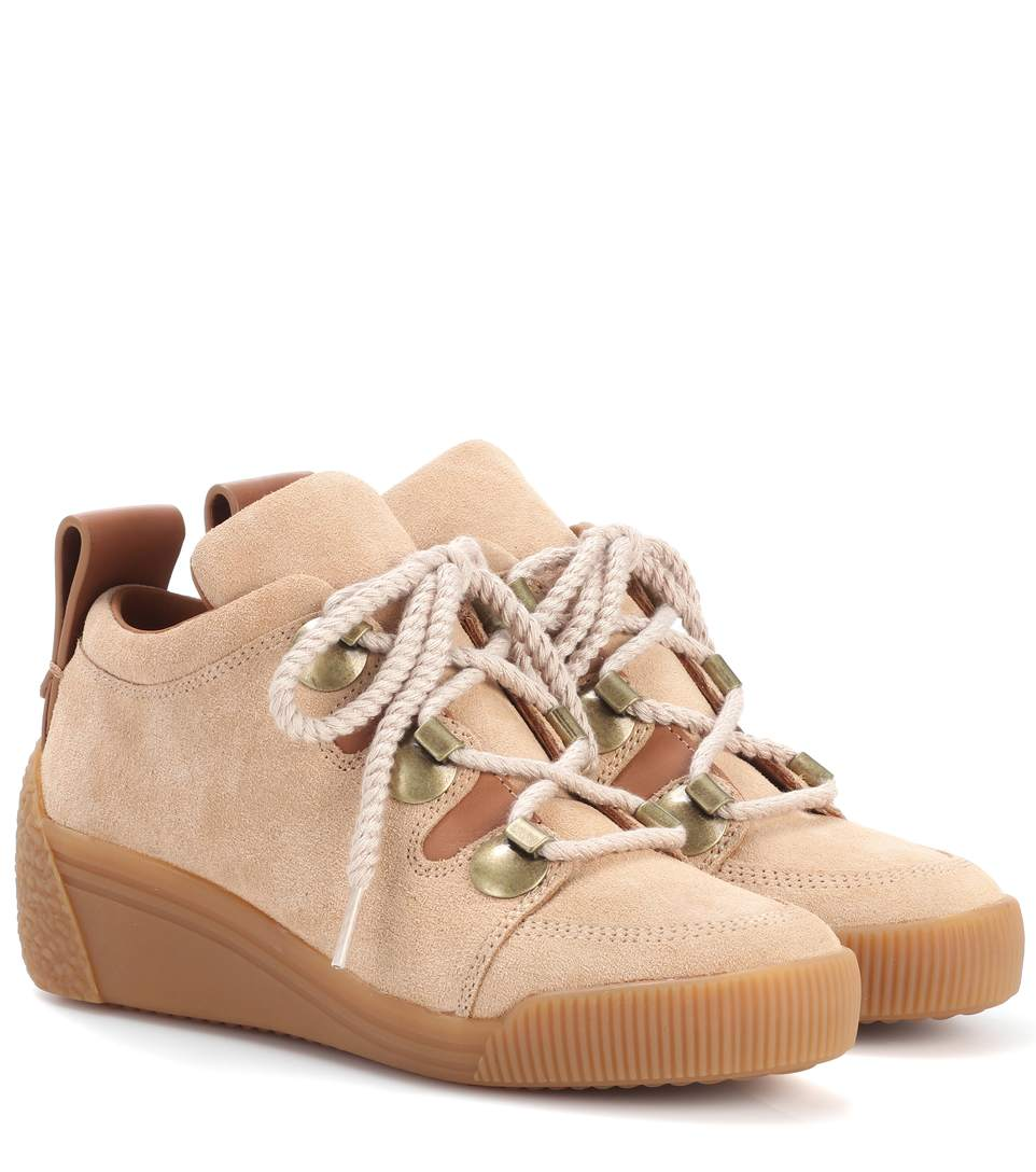 See by Chloé Leather Sneaker Wedges Free Shipping Best Sale R420X