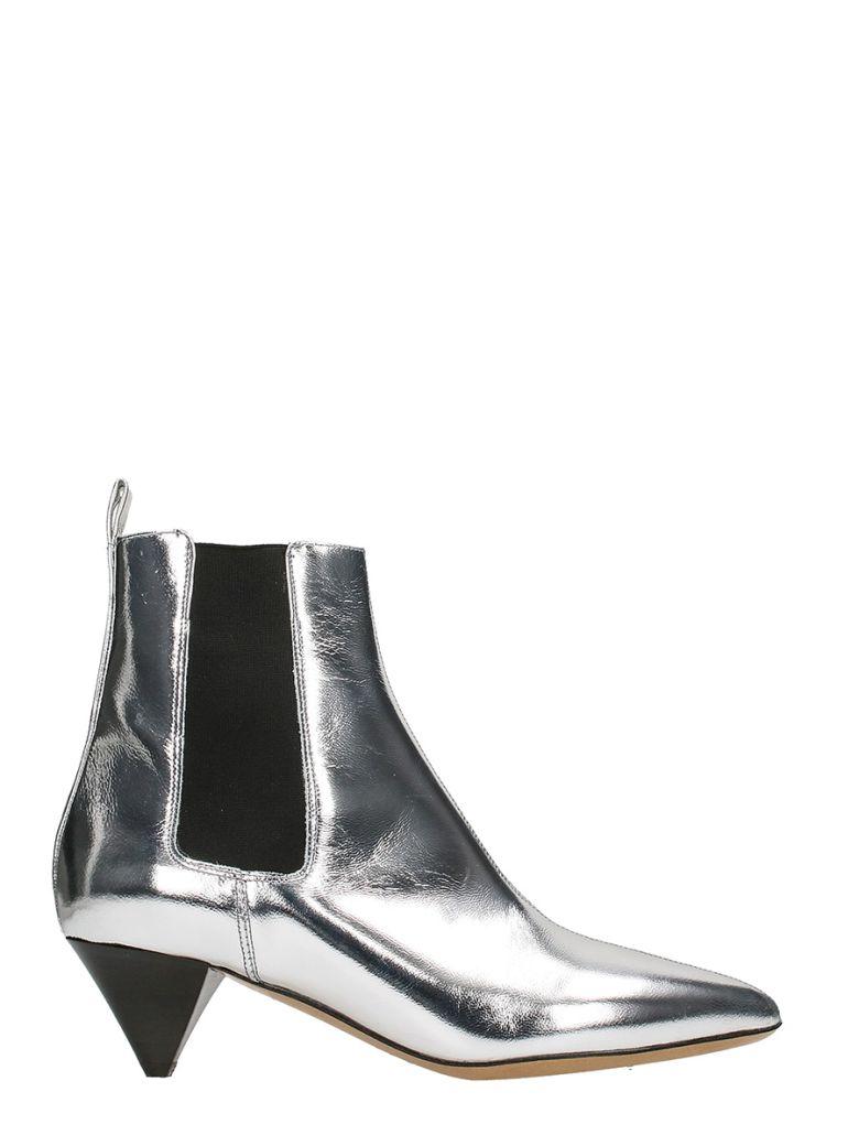 Isabel Marant Metallic Leather Dawell New Vintage Booties in Metallics. eFu5Y3N