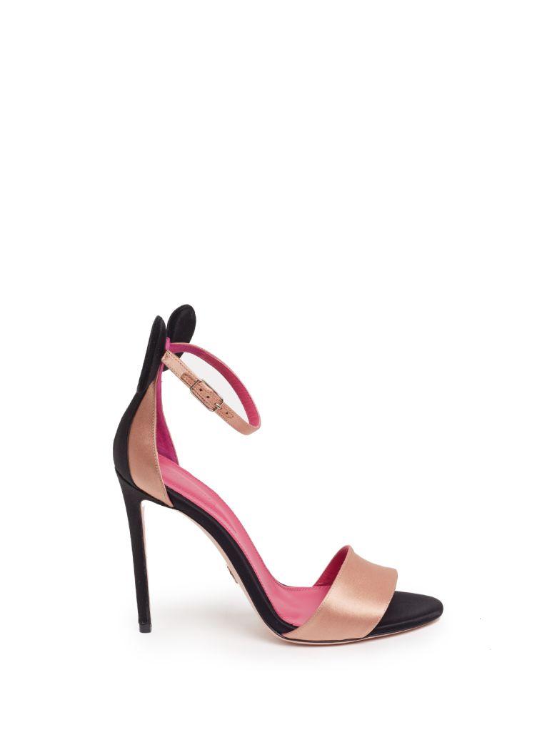 OSCAR TIYE 'Minnie' Sandals in Nero/Nudo