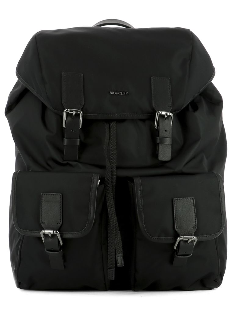 MONCLER Black Fabric Backpack