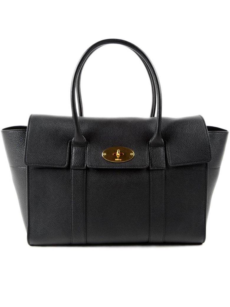 Small Bayswater Leather Satchel - Black