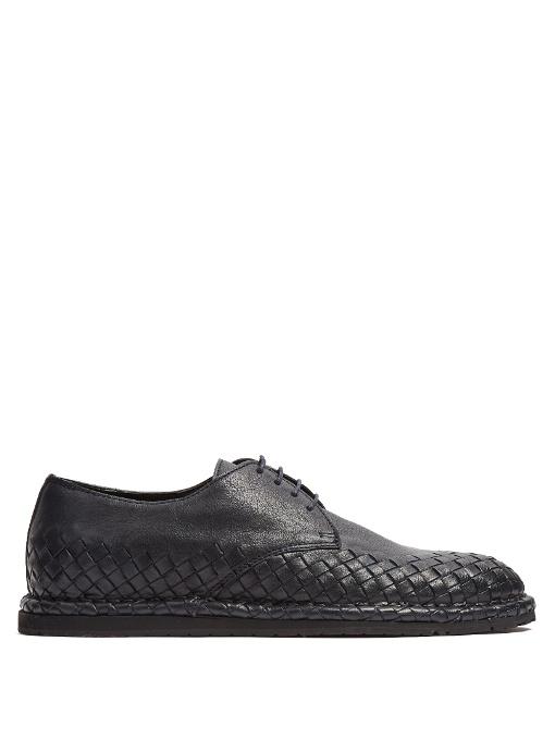 Spritz Intrecciato Leather-trimmed Suede Sneakers - Light grayBottega Veneta N00rvAnLp
