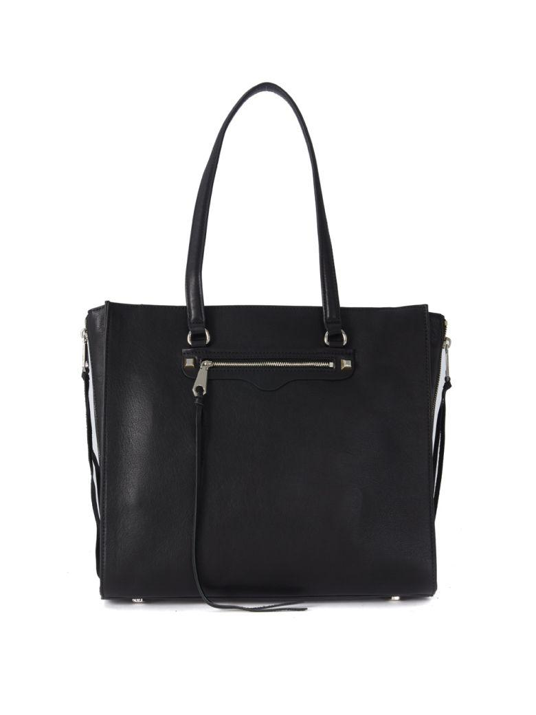 REBECCA MINKOFF Always On Side Zip Regan Black Leather Bag in Nero
