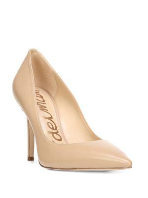 Women'S Hazel Pointed Toe Patent Leather High-Heel Pumps, Nude Linen Patent Leather