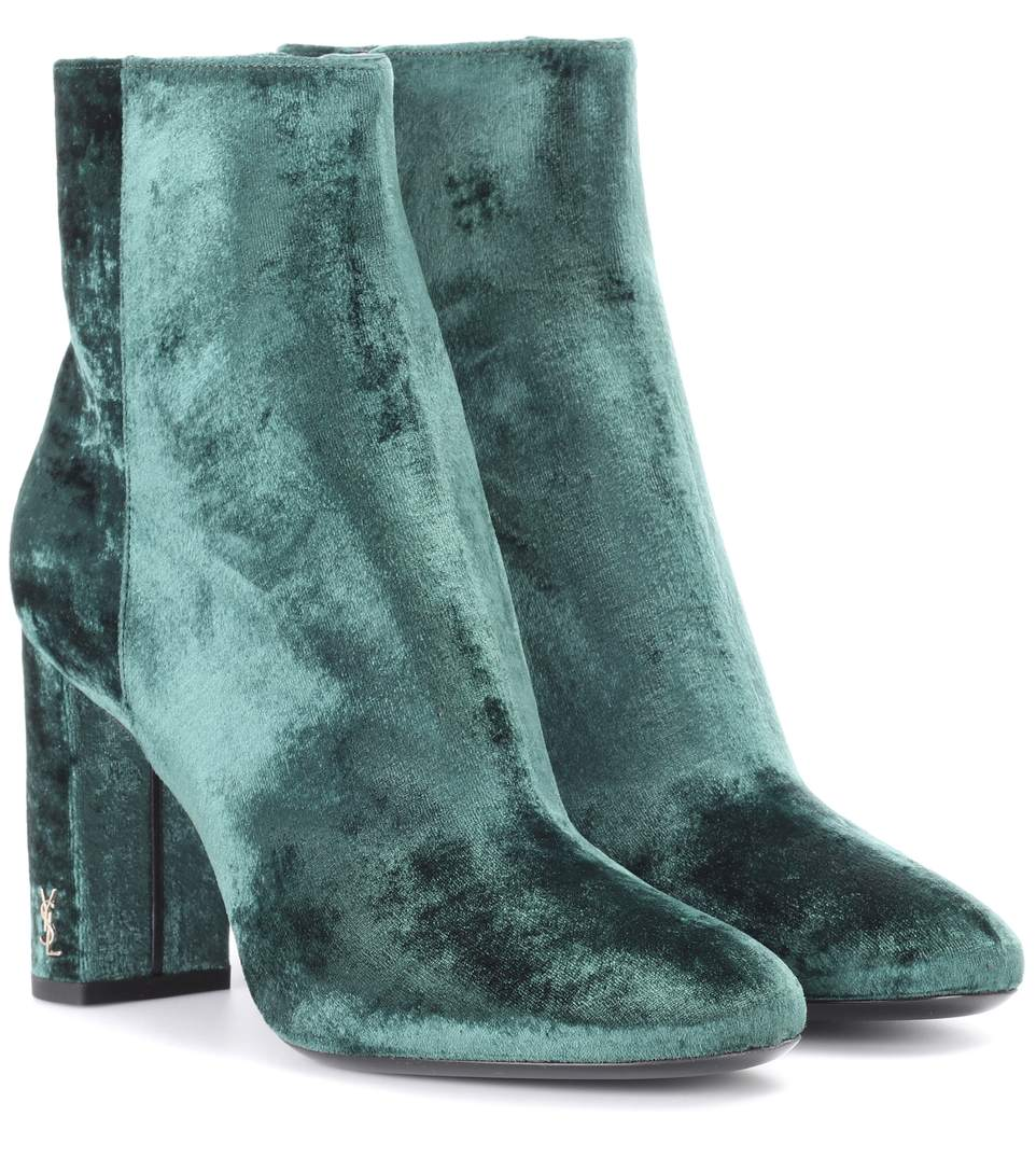 Free Shipping Cost Saint Laurent Velvet Ankle Boots Buy Cheap Price Shop For Online 2018 Unisex Discount 100% Guaranteed 2TSWvwfX