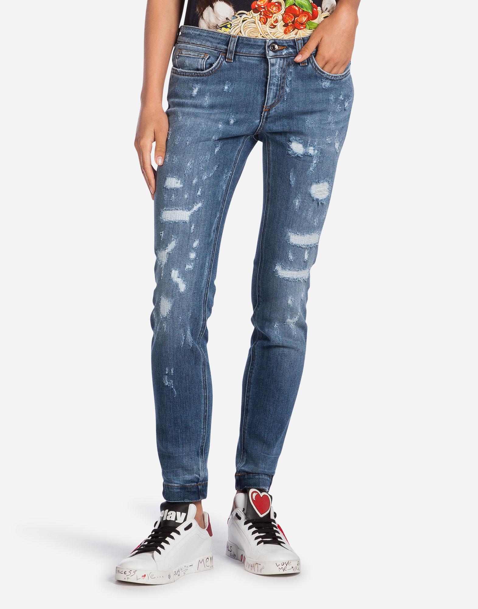 Pretty Fit Jeans In Stretch Denim in Mid Denim