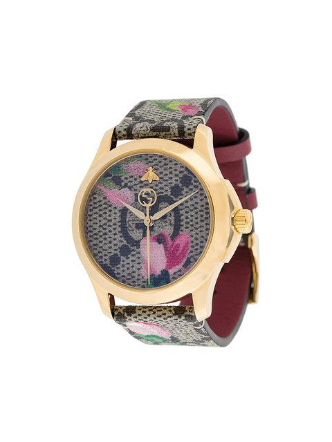 Watch G-Timeless Watch 38 Mm Case With Monogram-Floral Pattern, Gg Supreme