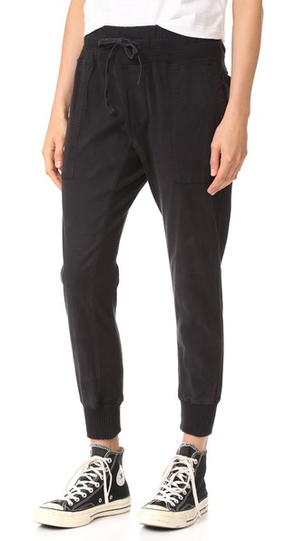 JAMES PERSE Jersey Inset Pants in Carbon