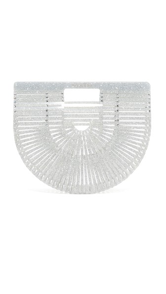 Ark Small Glittered Acrylic Clutch Bag