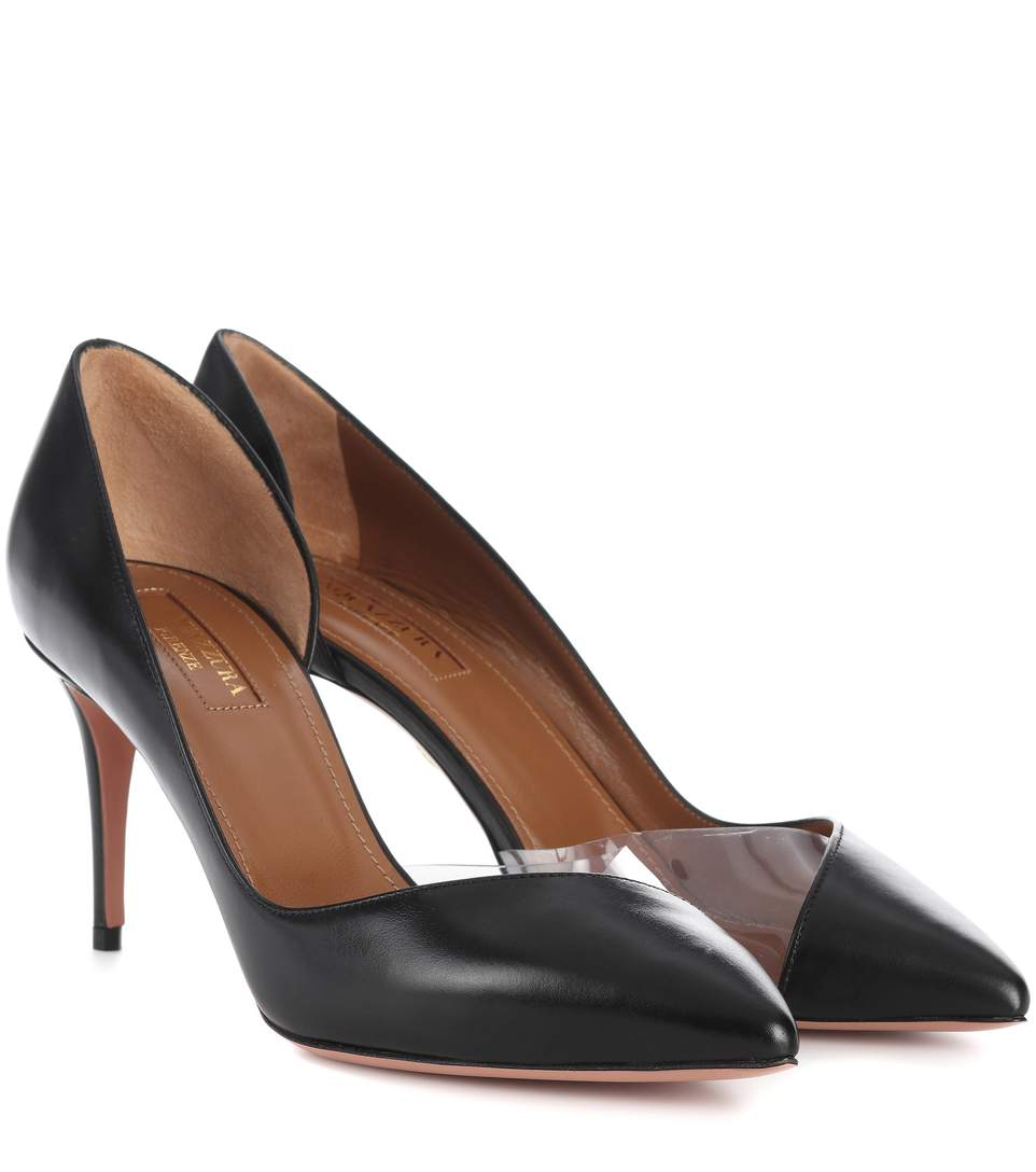Eclipse 75 Leather Pumps in Black