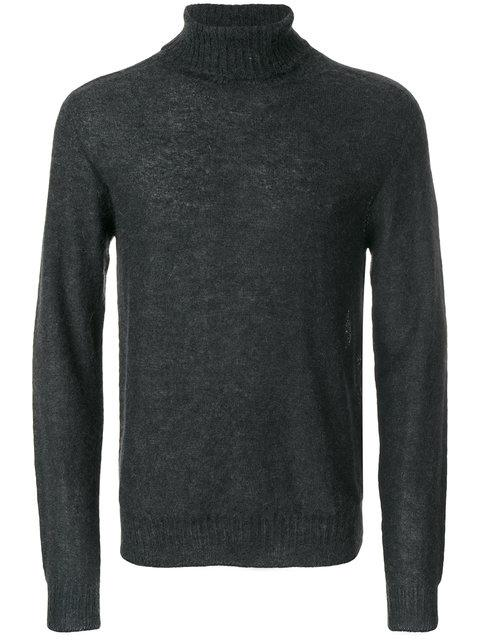 LEMAIRE Lemaire Fitted Roll-Neck Sweater - Grey